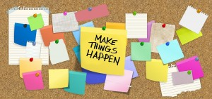 Make things Happen postits